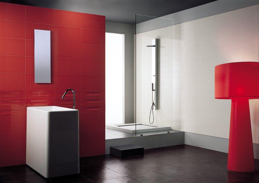 Baños Modernos Rojos:Baño moderno en colores rojos :: Imágenes y fotos