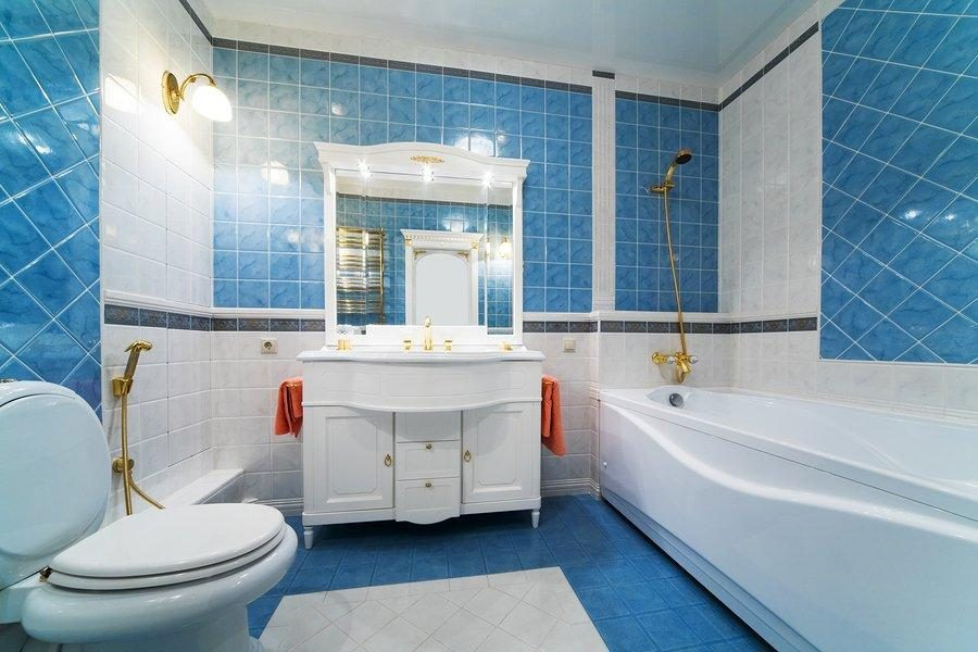 Baños Azules Modernos:Galería de imágenes: Colores para el cuarto de baño