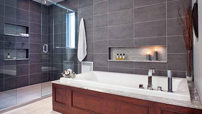 Cuarto de baño moderno con ducha italiana :: Imágenes y fotos