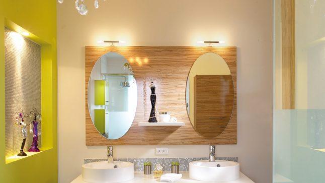 Lamparas Para Cuarto Baño:cuarto de baño lleno de feminidad y encanto, sin duda este cuarto de