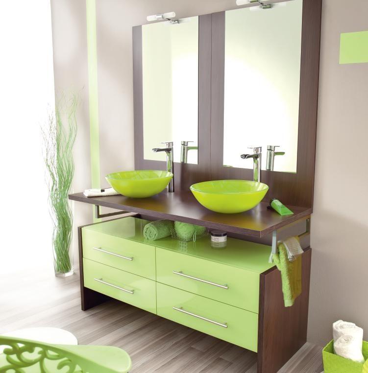 Muebles de ba o modernos en verde im genes y fotos - Fotos de muebles de bano modernos ...